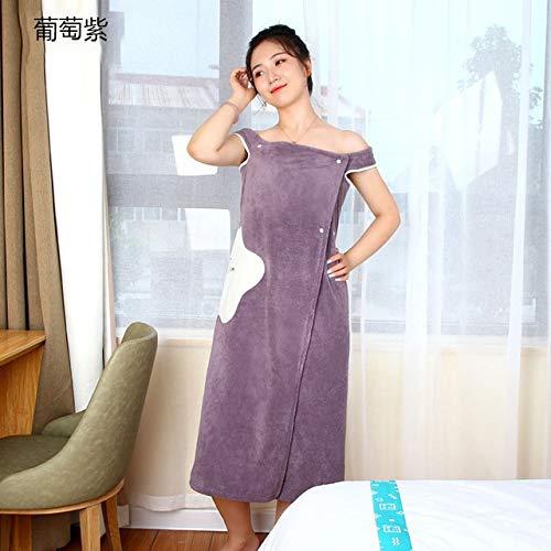 Shangfu Suministros de baño Toalla de baño portátil Toallas de Fibra superfina Suave y Absorbente de Toalla Chic (Color : Grape Purple, Size : M)