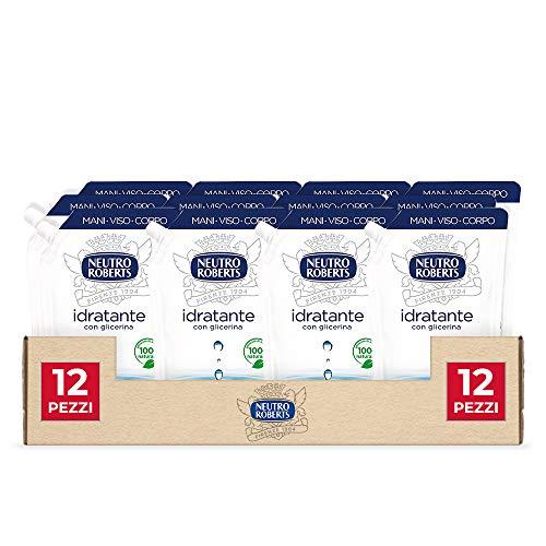 Neutro Roberts Sapone Liquido Ecopouch Idratante, 400 ml, 12 Pezzi