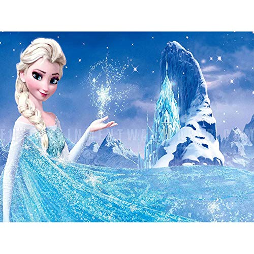 Kit de imitación de superhéroe kriptoniano para adultos, en 5D para manualidades, juego de regalo con piedras de cristal de diamantes de imitación, 30x40 cm Princesa Elsa de Aspecto Congelado