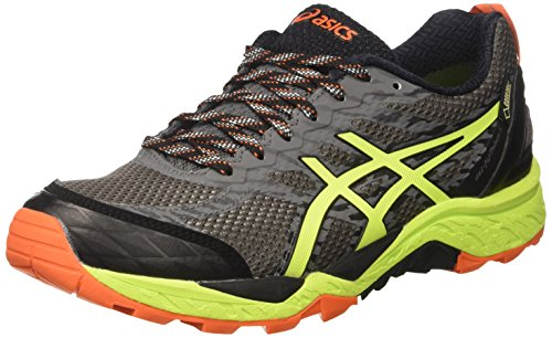 Asics Gel-Fujitrabuco 5 GTX, Zapatillas de Trail Running para Hombre, (Shark/Safety Yellow/Black), 41.5 EU