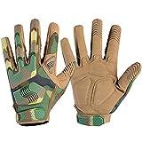 WTACTFUL - Guantes de dedo completo para motocicleta, ciclismo, escalada, camping, caza, senderismo, trabajo, Hombre, color Bosque, tamaño L
