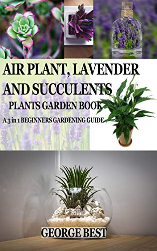 AIR PLANT, LAVENDER AND SUCCULENTS PLANTS GARDEN BOOK: A 3 in 1 BEGINNERS GARDENING GUIDE (English Edition)