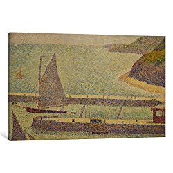 iCanvasART Port En Bressin by Georges Seurat Canvas Art Print