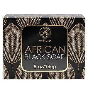 Jabón Negro Africano 140g - Hidratante - Nutritivo - Jabón Negro Africano 100% Crudo Natural Con Manteca De Karité & Aceite De Coco - Para Todos Los Tipos De Piel - Ingredientes Naturales
