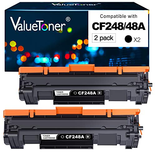 Valuetoner Compatible Toner Cartridge Replacement for HP 48A CF248A Used for Laserjet Pro M15w M15a M16a M16w MFP M29w M31w M30w M28a M28w Laser Printer (Black, 2 Pack)