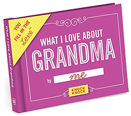 What I love about Grandma Book great mother's day gift idea