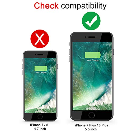 (Upgraded) iPhone 7 Plus /8 Plus Battery Case, SNSOU 5500mAh Portable Charger Case Ultra-Thin Rechargeable Extended Battery Pack Protective Backup Charging Case Cover for Apple iPhone 7 Plus /8 Plus