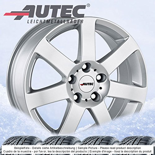 4 Winterräder Autec Arctic plus 6.5Jx16 ET32 5x112 silber mit 215/65 R16 98H Hankook Winter i*cept evo W310 für Audi Q3
