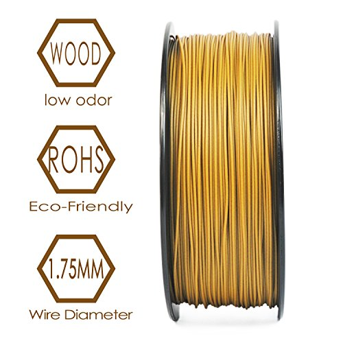 3D BEST-Q Wood PLA 1.75mm 3D Printer Filament, Dimensional Accuracy +/- 0.03 mm, 1KG Spool, 30% Wood-infill