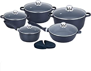 MC Living HD Luxury Quality 10 Piece die-cast Aluminum Non-Stick Coated Cooklover's cookware