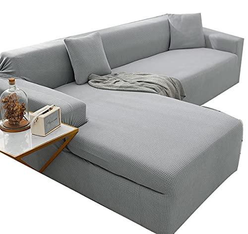 VEAI Funda Sofá Chaise Longue Derecho/Izquierdo Cubre Sofá de Forma L Protector para Sofá Necesita Comprar 2 Piezas (Color : Q, Size : 1 Plaza (90-140 cm))