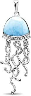 Jellyfish Larimar Pendant Necklace