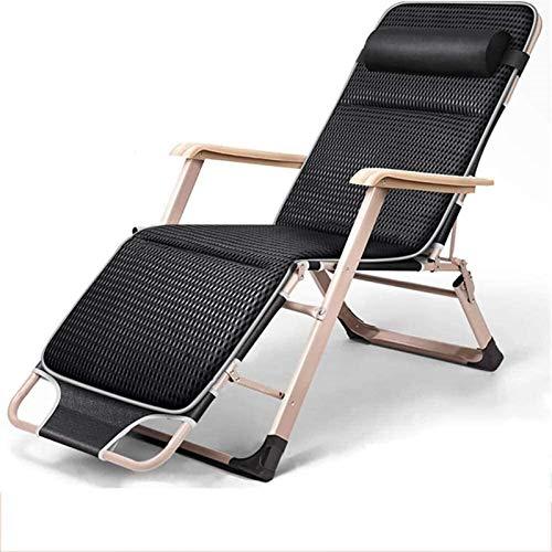 Sillas reclinables reclinables cero gravedad silla reclinable reclinable reclinable reclinable restaurante plegable silla para la oficina al aire libre cama balcón terraza camping cama para camping si