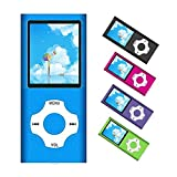 MP3 Player / MP4 Player, Portable Music Player with a 32GB TF Card with Music/Video/Voice Record/FM Radio/E-Book Reader/Photo Viewer, Support up to 64GB (Blue)