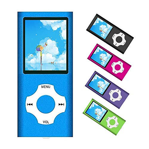 MP3 Player / MP4 Player, Portable Music Player with a 32GB TF Card with Music/Video/Voice Record/FM Radio/E-Book Reader/Photo Viewer (Blue)