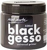 Mont Marte Gesso 500ml – Nero – Primer ideale per Colori Acrilici e Pittura ad Olio – Primer perfetto per Tele