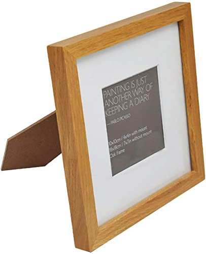 discount labworkauto 7x7 inch Picture Frame - Made to discount Display Pictures new arrival 4x4 with Mat or 7x7 Without Mat - Made of Oak… outlet sale