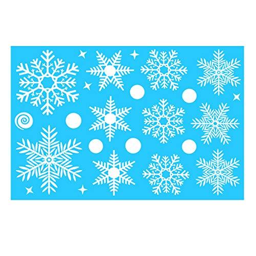 GJKK - Adesivi decorativi natalizi con fiocchi di neve A06 Etichettalia Unica