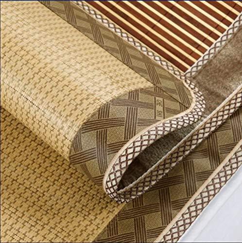 Estera de bambú de doble cara de verano, estera plegable, de alto grado de verano, necesaria para la disipación de calor de verano (90 × 185 cm)