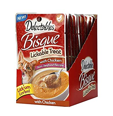 Delectables Bisque Lickable Wet Cat Treat - Chicken Pack of 12