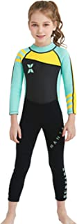 Kids 2.5MM Neoprene One-piece WetSuit Long Sleeve Full Body UV Protection Girls for Scuba Diving Snorkeling Swimming Fishi...