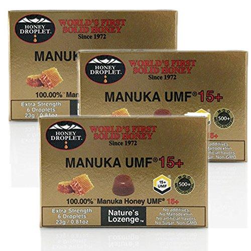 ハニードロップレット UMFマヌカハニー15+ (23g / 6粒入) 3箱