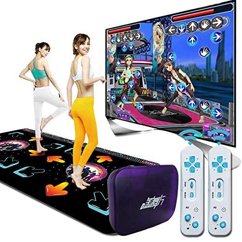 Tanzmatte 3D Double Dance Mat HD-Qualität + Unbegrenzte Updates für Songs und Spiele + Intelligente Induktion, geeignet für Eltern-Kind-Spiele
