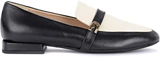 Furla Woman's 1927 Black and White Moccasin in Painted Leather