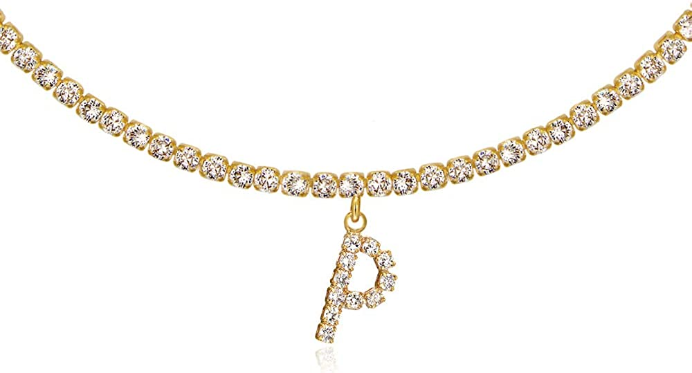 Letter Necklace 14k Gold Plated Alphabet Chain Initial Tennis Super popular specialty store trust Pe