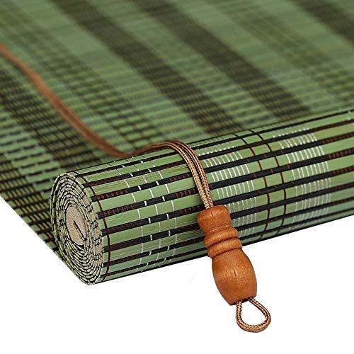 LJL Hochwertige Bambus-Vorhang Bambus Rollos Vertikal Jalousien Bambus Vorhang, 100x120cm