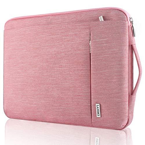 Landici 360 Schutzhülle für Laptop 27,9 cm (11,6 Zoll), wasserdicht, für iPad Pro 12.9 2020, 12.3 Zoll Surface Pro 7/6/5, MacBook Air 11, neues MacBook 12 Zoll, Samsung HP Acer Chromebook, Pink