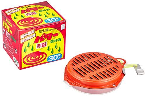 コダマ 富士錦 パワー森林香 30巻1箱+携帯防虫器1箱セット