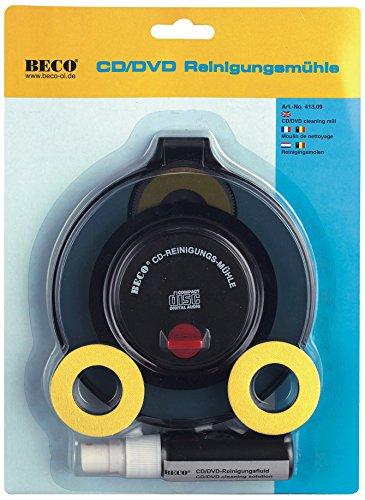 Beco nassrein igungs Sistema para CD y DVD con Fluid, en una caja expositora con Fluid en una caja expositora