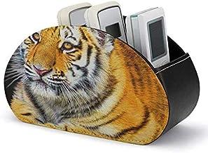 Support de télécommande - Boîte de rangement pour support de télécommande TV avec 5 compartiments-PU Cuir Animal Mignon Wi...