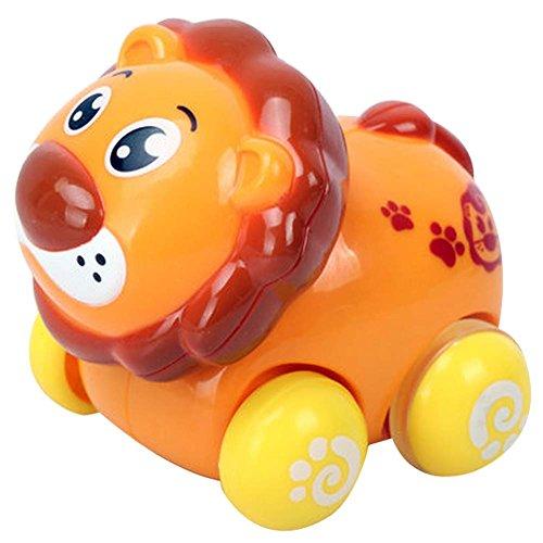 Lot de 2 Lion Wind-up Toy Car pour bébé / enfant / enfants (Multicolor)