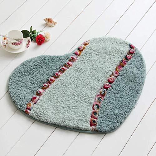 Alfombras de baño Lavables Ultra Suaves, pies Gruesos y cómodos, alfombras de Ducha de baño Suaves, 50X80 cm, semicírculo, Rosa, cómodo