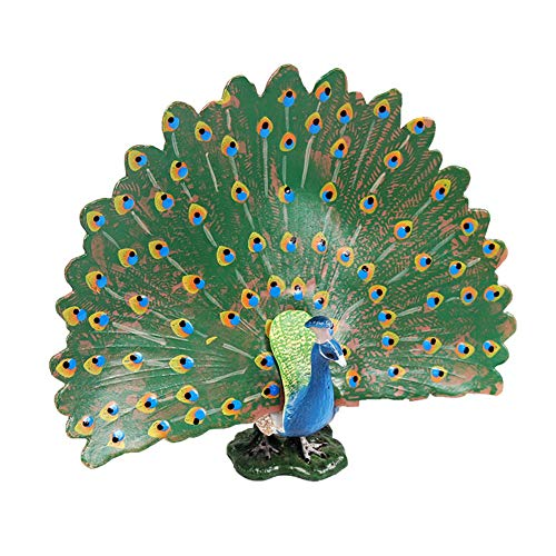 FLORMON Figuras de pájaros Realista Pavo Real Set de Juguetes de Animales Simulado Juguetes de plástico de Modelos de Animales Aprendiendo Juguetes educativos para niñas niños pequeños