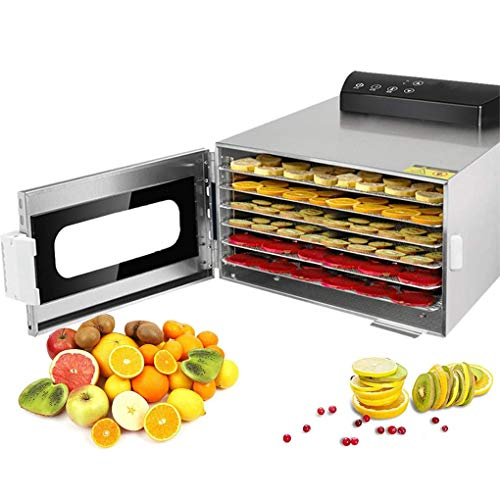 Purchase Food Dehydrator, 6 Layers Commercial Stainless Steel Fruit Dehydrator, 400W Professional Ad...