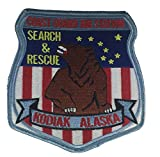 U.S. COAST GUARD AIR STATION KODIAK ALASKA SEARCH AND RESCUE FLIGHT JACKET PATCH - COLOR - Veteran Owned Business