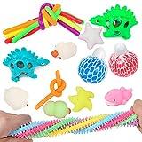 JKUN Sensory Fidget Toys Set de 20 piezas para aliviar el estrés y la ansiedad, juguete sensorial adecuado para niños y adultos juguete de mano Fidget juguete regalo