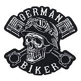 Parche termoadhesivo de calavera para chalecos de piel, parches para moto, parches para chaqueta de moto, para hombre, Finally Home