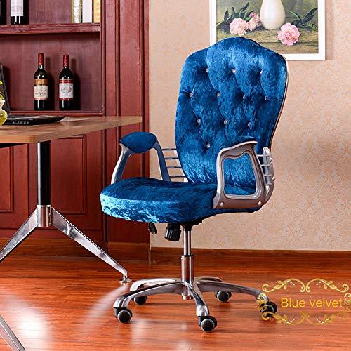 Nye Silla de Oficina ergonómica con reposabrazos, Ajustable en Altura, Silla de Trabajo en casa de Terciopelo con función de oscilación, para Oficina, Dormitorio, Estudio, Color Opcional