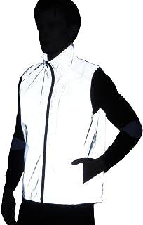 LZLRUN 2019 Men Women 3M Reflective Vest Jacket Casual Hiphop Windbreaker Night Sporting Coat Hooded Fluorescent Clothing