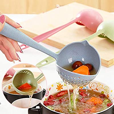 UOFit New Kitchen Hot Pot Soup Spoon Colander 2 in 1 Daily Useful Cooking Tools Kitchen Utensils & Gadgets from AM01281