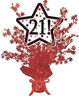 21! RED Star Centerpiece
