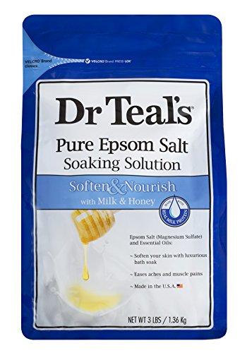 PACK OF 8 - Dr. Teal's Soften & Nourish Epsom Salt Soaking Solution, 3 lb