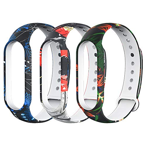 AWINNER Bands Compatible with Xiaomi Mi Band 5 Smartwatch Wristbands Replacement Band Accessaries Straps Bracelets for Mi5 (Hawaiian Style)