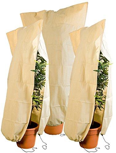 Royal Gardineer Pflanzenschutz: 3er-Set XL-Pflanzenabdeckungen als Winterschutz, 180x120cm, 80 g/m² (Winterschutz Pflanzen)