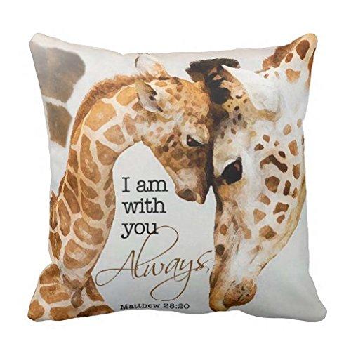 Kissenbezug Giraffe mit Reißverschluss, aus Canvas -45 x 45 cm