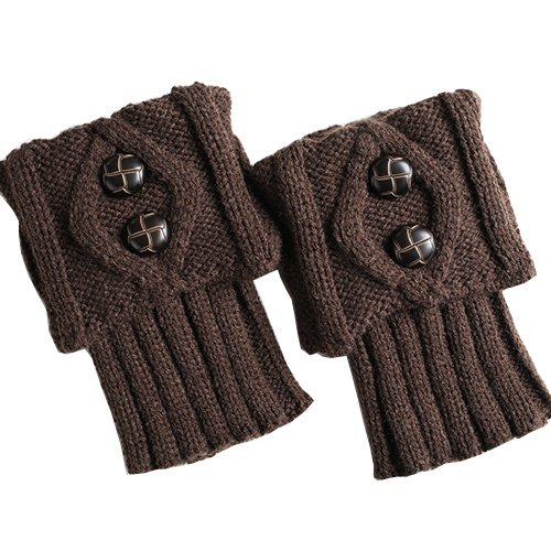 Centrawin Women Fashion Winter Leg Warmers Button Crochet Knitting Boot Socks Toppers Cuff